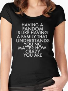 Fandom Understands Crazy (White) Women's Fitted Scoop T-Shirt