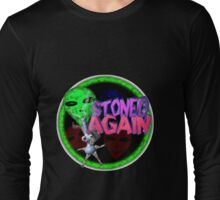Alien w/ bong from valxart.com  Long Sleeve T-Shirt