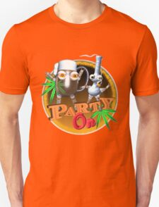 Party Time Beer,Bong & Cannabis  T-Shirt