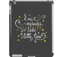 Motivational Quote, Hand Lettering iPad Case/Skin