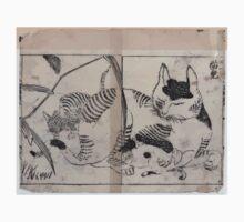 Domestic cat nursing kittens 001 One Piece - Short Sleeve