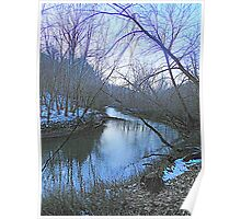 Clearcreek at Dusk Poster