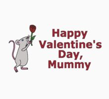 Valentine's Day Rose for Mummy Kids Clothes