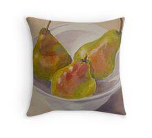 Three pears Throw Pillow