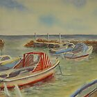 Boat harbour, Williamstown by Virginia  Coghill