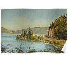 Lake Rotoma NZ Poster