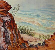 Carlo Sandblow, Rainbow Beach 2 by Virginia  Coghill
