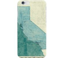 California Map Blue Vintage iPhone Case/Skin