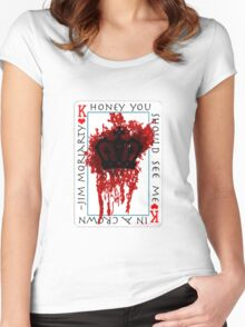 Honey, you should see me in a crown Women's Fitted Scoop T-Shirt