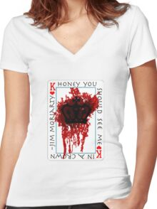 Honey, you should see me in a crown Women's Fitted V-Neck T-Shirt