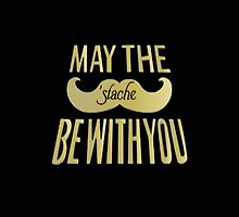 May the 'stache be with you (Star Wars) - Iphone Case  by sullat04