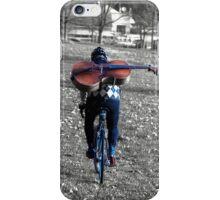Cellist by Bike  iPhone Case/Skin