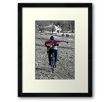 Cellist by Bike  Framed Print