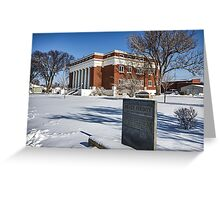 Meade County, Kansas, Courthouse Greeting Card