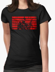 Snake Eyes Symbol Womens Fitted T-Shirt