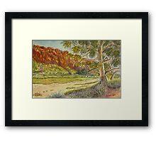 Glen Helen Gorge, Central Australia Framed Print