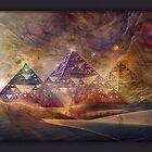 Fractal Pyramid Dreamscape  by donnarebecca