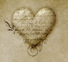 Valentine sepia by Melanie Moor