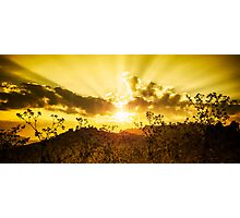 sunset on the mountain Photographic Print