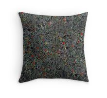 Abstract eucalyptus Throw Pillow