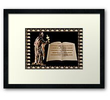 (✿◠‿◠) JOSHUA SCRIPTURE PICTURE (✿◠‿◠) Framed Print