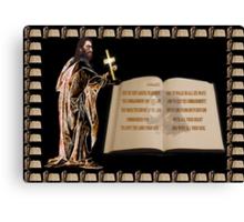 (✿◠‿◠) JOSHUA SCRIPTURE PICTURE (✿◠‿◠) Canvas Print