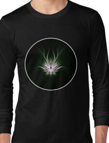 Mint Flame Abstract Long Sleeve T-Shirt