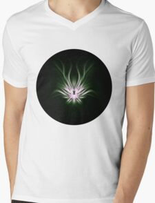 Mint Flame Abstract Mens V-Neck T-Shirt
