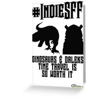 IndieSFF Dinosaurs and Daleks Greeting Card