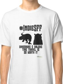 IndieSFF Dinosaurs and Daleks Classic T-Shirt