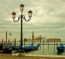 Venice Lagoon in a Moody Sunrise by kirilart