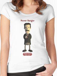 Nikola Tesla - Power Ranger Women's Fitted Scoop T-Shirt