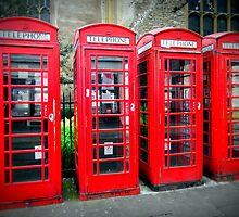 Iconic red telephone boxes by apoetsjournal