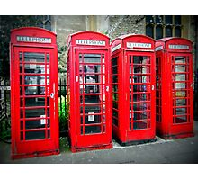 Iconic red telephone boxes Photographic Print