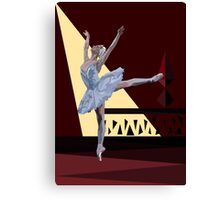 Ballerina Dancing Swan Lake Canvas Print