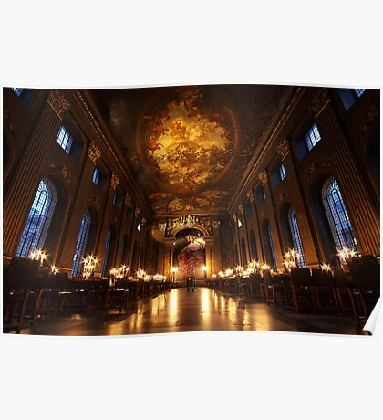 Painted Hall, Old Royal Naval College, Greenwich Poster