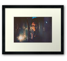 """Little flashes of sun on the surface of a cold, dark sea.""~Jean-Paul Sartre Framed Print"