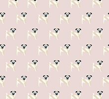 PUG with Pink background by mabsoph