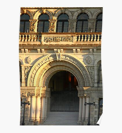 Arched Doorway of Victoria Parliament Poster
