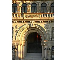 Arched Doorway of Victoria Parliament Photographic Print