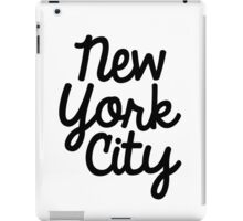 New York City Marker in Black iPad Case/Skin