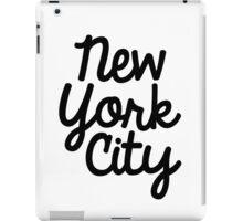 New York City Marker in Black iPad Case/Skin