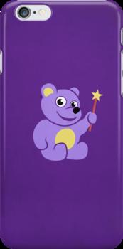 Purple Teddy Bear Fairy Kids IPhone Case by Boriana Giormova