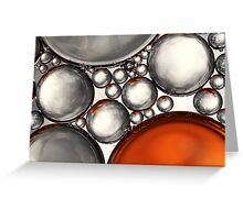 Mercury & Bronze Bubble Abstract Greeting Card