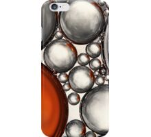 Mercury & Bronze Bubble Abstract iPhone Case/Skin
