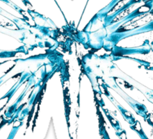 fringe butterfly Sticker