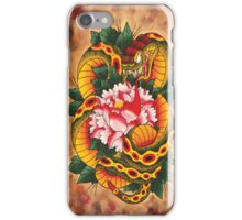 Snake and Peony Flower iPhone Case/Skin
