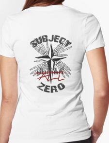 Subject Zero- To Err is All Womens Fitted T-Shirt