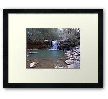 Waterfall Swimming Hole Framed Print