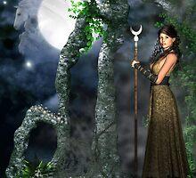 Moon Goddess - Selene by magicalartz